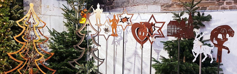 Banner Gartenstecker weihnachten